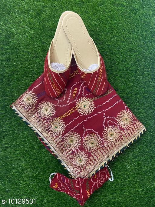 Bandhani Jutti Women Saree