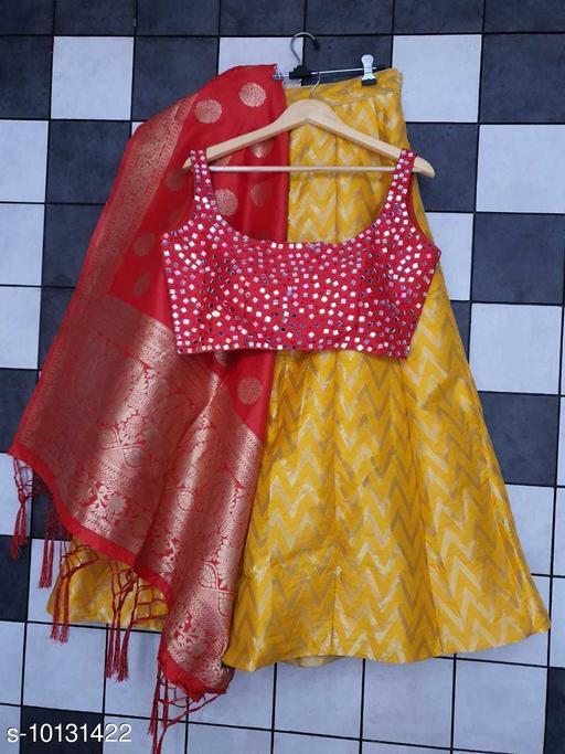 Classy Stylish Banarasi Jacquard Silk Women's Lehenga Vol 14