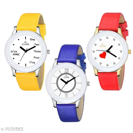 Olberg Fancy colorful designer series analog watch for girls and women