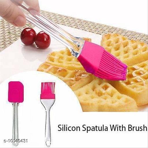 Trendy Silicone & Pilastic Spatula & Brush