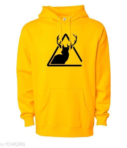 DEER Printed Hooded Neck Sweatshirt for Men