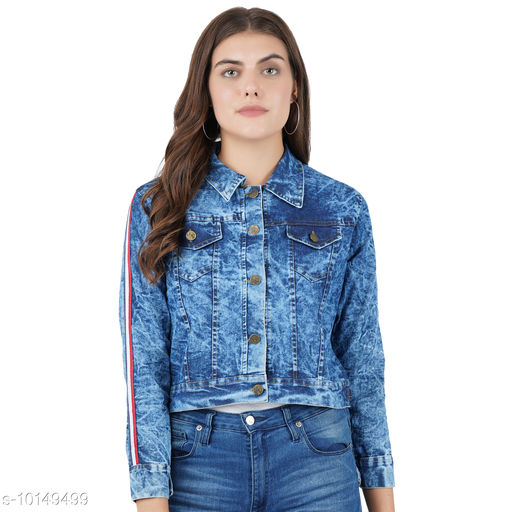 Jackets Jackets  *Fabric* Denim  *Sizes*   *L (Bust Size* 40 in, Length Size  *Sizes Available* L *    Catalog Name: Comfy Graceful Women Jackets & Waistcoat CatalogID_1828754 C79-SC1023 Code: 163-10149499-