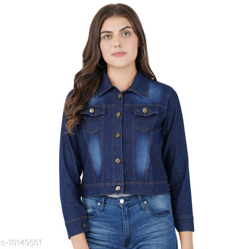 Jackets Jackets  *Fabric* Denim  *Sizes*   *L (Bust Size* 40 in, Length Size  *Sizes Available* L *    Catalog Name: Comfy Graceful Women Jackets & Waistcoat CatalogID_1828754 C79-SC1023 Code: 163-10149501-