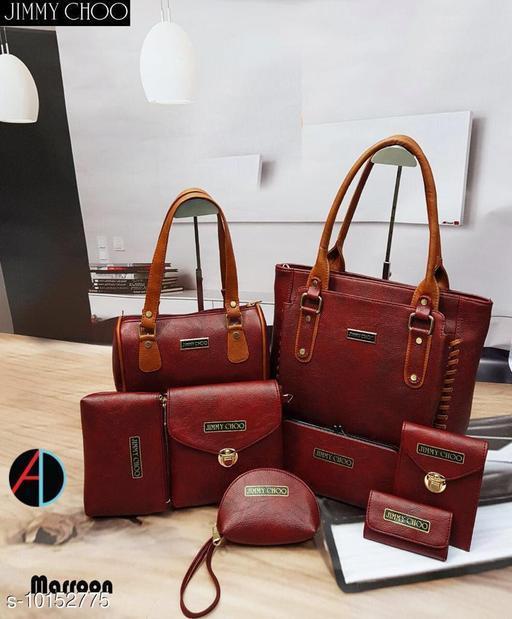 Handbags Maroon  *Material* Leather  *Sizes* Free Size (Length Size  *Sizes Available* Free Size *    Catalog Name: Graceful Versatile Women Handbags CatalogID_1829608 C73-SC1073 Code: 1631-10152775-