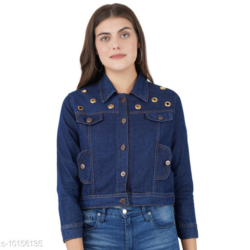 Ethnic Jackets & Shrugs Olla Stylish Women's Jackets  *Fabric* Denim  *Combo of* Single  *Sizes*   *S (Bust Size* 36 in, Length Size  *Sizes Available* S *    Catalog Name: Banita Graceful Women Ethnic Jackets CatalogID_1830679 C74-SC1008 Code: 493-10156135-
