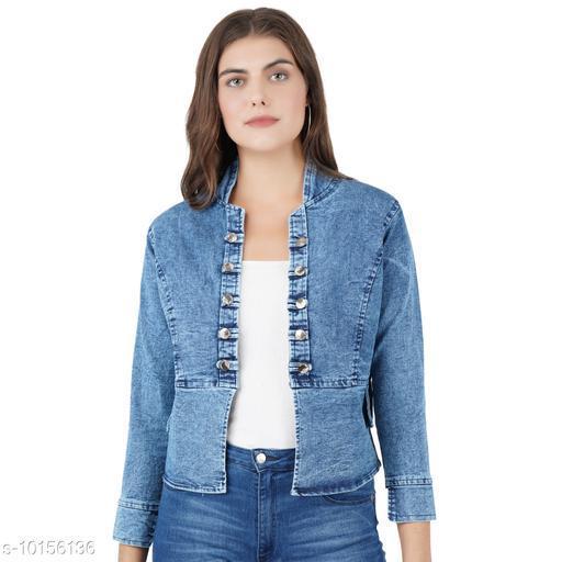 Ethnic Jackets & Shrugs Olla Stylish Women's Jackets  *Fabric* Denim  *Combo of* Single  *Sizes*   *S (Bust Size* 36 in, Length Size  *Sizes Available* S *    Catalog Name: Banita Graceful Women Ethnic Jackets CatalogID_1830679 C74-SC1008 Code: 493-10156136-