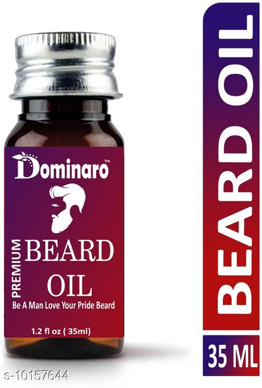 Men's Grooming  Advanced Smoothening Beard Oil   *Product Title * Premium Beard Growth oil Moustache Oil 35ml  *Brand * Dominaro  *Type* Beard Oil  *Multipack* 1  *Capacity * 35 ml  *Sizes Available* Free Size *    Catalog Name:  Advanced Smoothening Beard Oil  CatalogID_1831368 C51-SC1662 Code: 462-10157644-