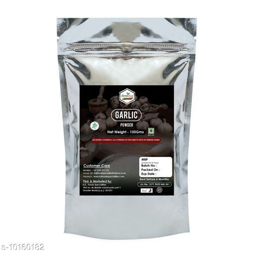 Spices GARLIC POWDER  *Capacity* 150gm  *Pack* Pack of 1  *Sizes Available* Free Size *    Catalog Name: GARLIC POWDER CatalogID_1832175 C89-SC1737 Code: 182-10160182-