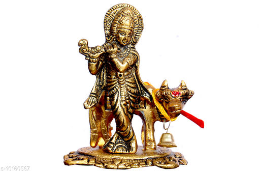 Religious Idols & Paintings Krishna idol  *Material* Metal  *Pack* Pack of 1  *Sizes Available* Free Size *    Catalog Name: Graceful Religious Idols CatalogID_1832266 C128-SC1316 Code: 023-10160567-