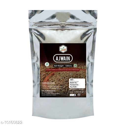 Spices AJWAIN  *Capacity* 130gm  *Pack* Pack of 1  *Sizes Available* Free Size *    Catalog Name: Spices (986541) CatalogID_1832324 C89-SC1737 Code: 632-10160822-