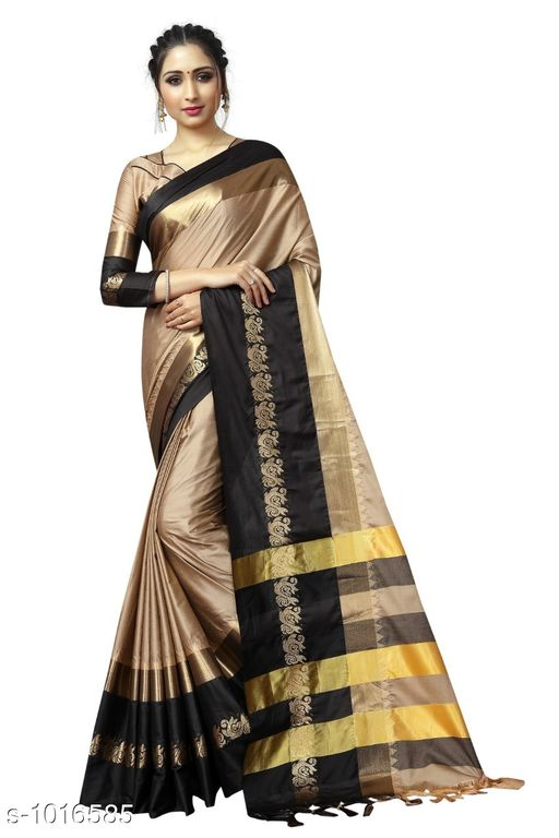 Sarees Ethnic Cotton Silk Saree  *Fabric* Saree - Cotton Silk, Blouse – Cotton Silk  *Size* Saree – 5.5 Mtr, Blouse – 0.8 Mtr  *Work* Zari Work  *Sizes Available* Free Size *   Catalog Rating: ★4 (432)  Catalog Name: Rheyali Solid Cotton Silk Sarees with Tassels and Latkans CatalogID_122487 C74-SC1004 Code: 385-1016585-