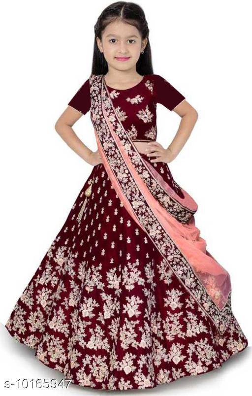 Lehenga Cholis Girls Lehenga Choli Ethnic Wear Embroidered Ghagra, Choli, Dupatta Set  *Lehenga Fabric* Silk Blend  *Sizes*  6-7 Years  *Sizes Available* 4-5 Years, 5-6 Years, 6-7 Years, 7-8 Years, 8-9 Years, 9-10 Years *    Catalog Name: Flawsome Elegant Kids Girls Lehanga Cholis CatalogID_1833575 C61-SC1137 Code: 366-10165947-