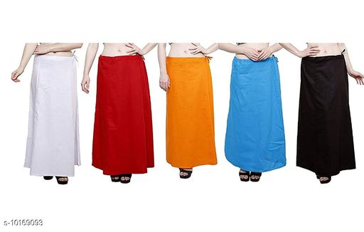 ROOPRANG PURE COTTON PETTICOAT PACK OF 5