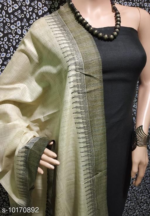 Cotton khadi suit dress material