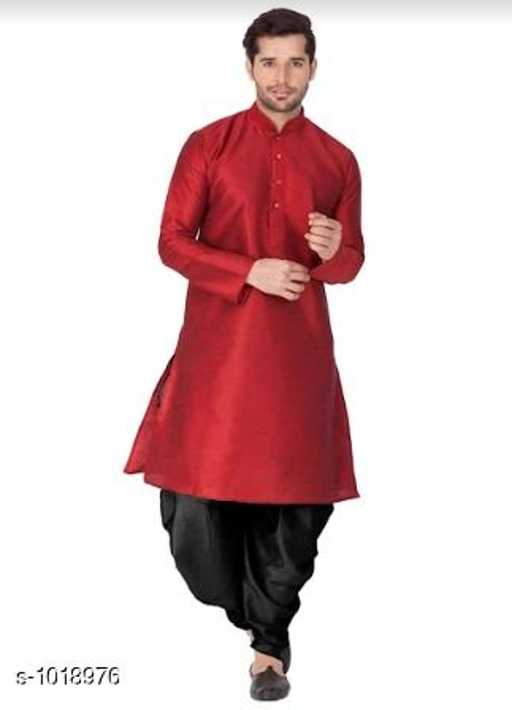 Ethnic Cotton Blend Kurta Pyjama Set