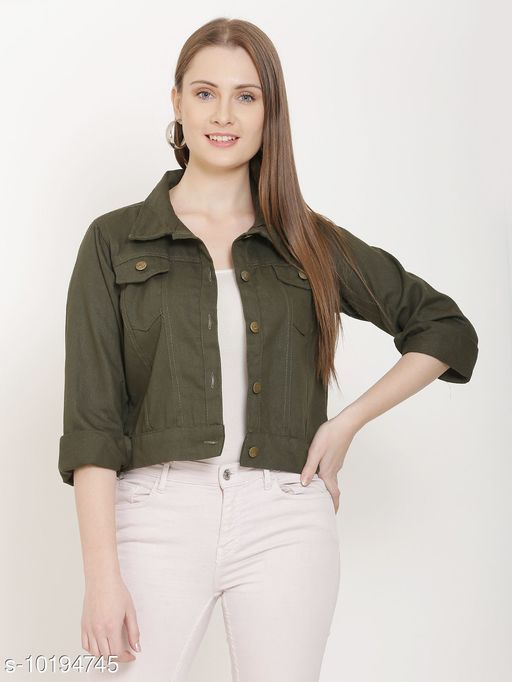 Jackets Attractive  Women's Jacket  * Fabric* Denim  *Sleeve Length* Three-Quarter Sleeves  *Pattern* Embroidered  *Combo of* Single  *Sizes*   *S (Bust Size* 36 in, Length Size  *M (Bust Size* 38 in, Length Size  *L (Bust Size* 40 in, Length Size  *XL (Bust Size* 42 in, Length Size  *Sizes Available* S, M, L, XL *    Catalog Name:  Attractive Women's jacket CatalogID_1843978 C79-SC1023 Code: 684-10194745-
