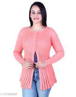 Ogarti woollen full sleeve round neck Bawa colour Women's  Shrug