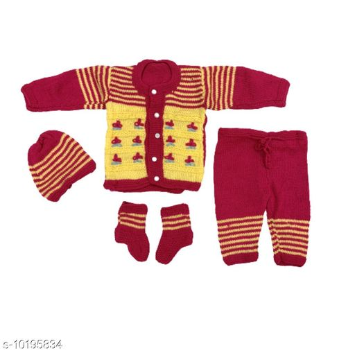 Stylish Kids woollen sweater pant set