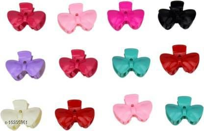 Hair Accessories ZEVORA Trendy Set Of 12 Colorful hair Clutcher hair Pin Accessory for girls & Women Jewellery Hair Claw(Multicolor)  *Material* Plastic  *Multipack* 12  *Sizes*   *Free Size (Length Size* 6 cm, Width Size  *Sizes Available* Free Size *    Catalog Name: Twinkling Fancy Women Hair Accessories CatalogID_1845342 C72-SC1088 Code: 562-10200361-