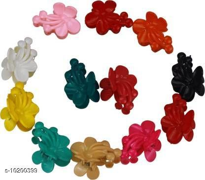Hair Accessories ZEVORA Trendy Set of 12 Colorful Hair Clutcher Hair Pin Accessory for Girls & Women Jewellery Hair Clip  *Material* Plastic  *Multipack* 12  *Sizes*   *Free Size (Length Size* 6 cm, Width Size  *Sizes Available* Free Size *    Catalog Name: Feminine Chic Women Hair Accessories CatalogID_1845347 C72-SC1088 Code: 562-10200399-