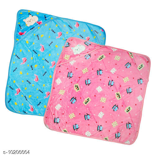 Blankets Hot Potato Baby Sleeping Blanket  *Fabric* Cotton  *Pattern* Printed  *Multipack* 2  *Sizes* Free Size (Length Size  *Sizes Available* Free Size *    Catalog Name: Trendy Baby Hooded Sleeping Blanket CatalogID_1846822 C63-SC1323 Code: 685-10206664-