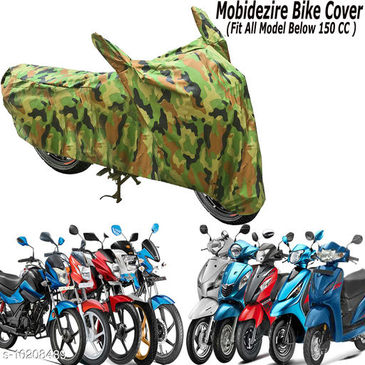 Appliance Covers Mobidezire Bike/Scooty Body cover For LML(Below 150 cc)  *Material* Polyester  *Pattern* Solid  *Model Name* 150 cc  *Color* Green  *Pack* Pack of 1  *Product Length* 16 cm  *Product Breadth* 11 cm  *Product Height* 6 cm  *Description* Ramanta Two Wheeler Dust Proof Weather Proof Green Body Cover  *Sizes Available* Free Size *    Catalog Name:  Appliance Covers CatalogID_1847266 C131-SC1624 Code: 462-10208489-
