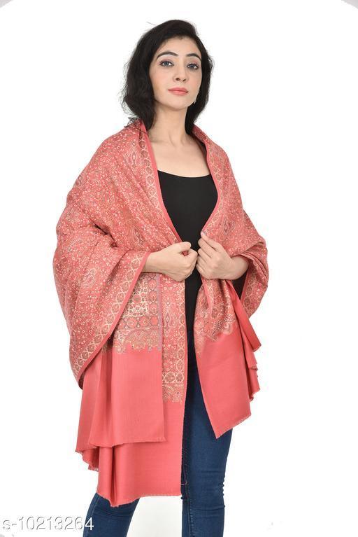 Women's Full Printed Kalamkari Design Shawl (Baby Pink)