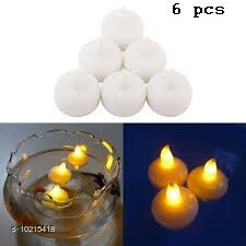 Festive Diyas & Candles Diwali Diya Flameless Warm White LED Diya Tealigh with Replaceable Battery Smokeless Candle (6 Pieces)  *Material* Plastic  *Type * Diya Set  *Diya Type * Table  *Pack* Pack Of 6  *Product Length* 4 Inch  *Product Breadth* 2 Inch  *Sizes Available* Free Size *    Catalog Name: Diwali Diya Flameless Warm White LED Diya Tealigh with Replaceable Battery Smokeless Candle (6 and 12 Pieces) CatalogID_1848989 C128-SC1604 Code: 243-10215418-