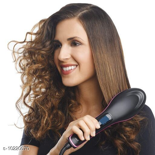 Tools & Accessories Simply 2 in 1 Straight Ceramic Women's Hair Straightener Brush  *Product Name* Simply 2 in 1 Straight Ceramic Women's Hair Straightener Brush  *Material* Plastic  *Multipack* 1  *Sizes Available* Free Size *    Catalog Name:  Advanced Styling Hair Brush CatalogID_1850258 C50-SC1250 Code: 005-10220070-