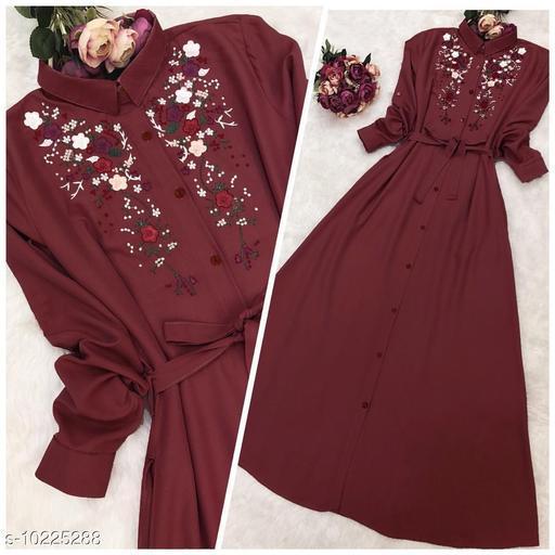 Latest Designer Style Peach color rayon kurti