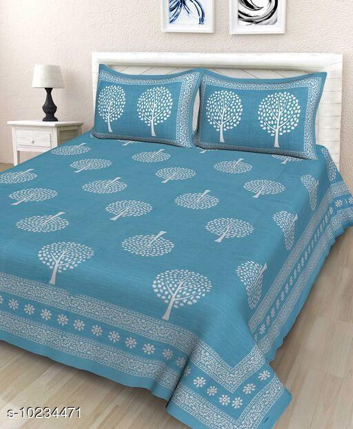 Stylish Cotton 100 X 90 Double Bedsheet