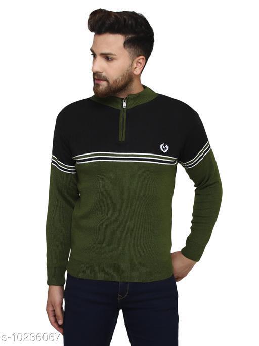 Kvetoo Black Round Neck Sweater Single