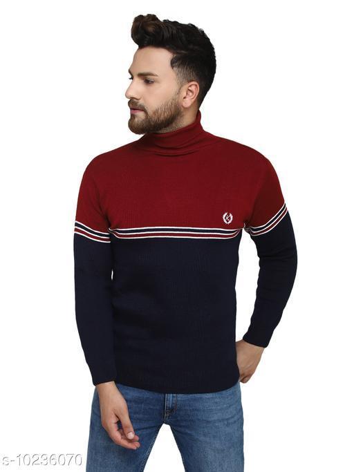 Kvetoo Maroon High Neck Sweater Single