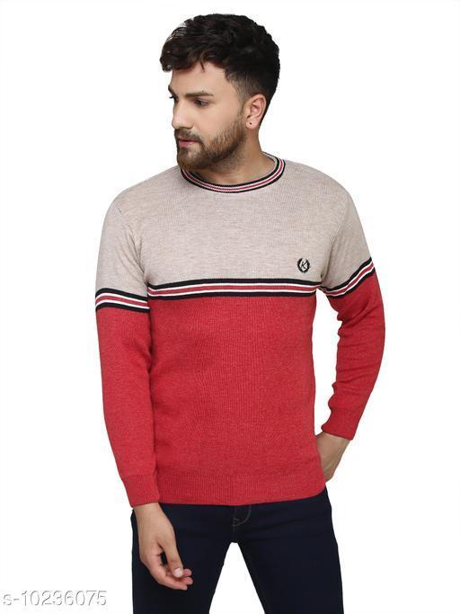Kvetoo Red Round Neck Sweater Single
