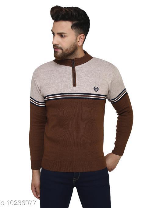 Kvetoo Brown Round Neck Sweater Single