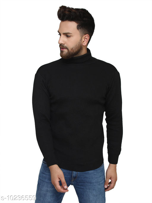 Kvetoo Black High Neck Sweater Single
