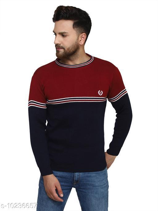 Kvetoo Maroon Round Neck Sweater Single