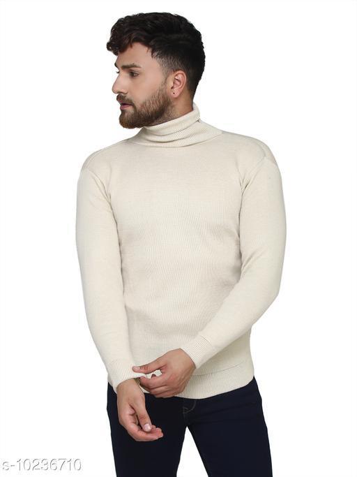 Kvetoo Off-White High Neck Sweater Single