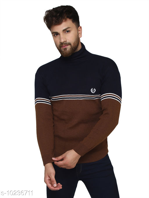 Kvetoo Navy High Neck Sweater Single