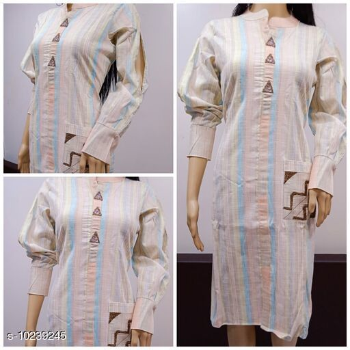 Kurtis & Kurtas Kurtis  *Fabric* Cotton  *Combo of* Single  *Sizes* XL  *Sizes Available* XL *    Catalog Name: Charvi Refined Kurtis CatalogID_1854915 C74-SC1001 Code: 715-10239245-