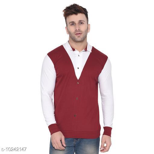 Blisstone Long Sleeves Spread Collar Shirt Maroon