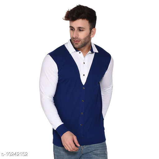 Blisstone Long Sleeves Spread Collar Shirt Blue
