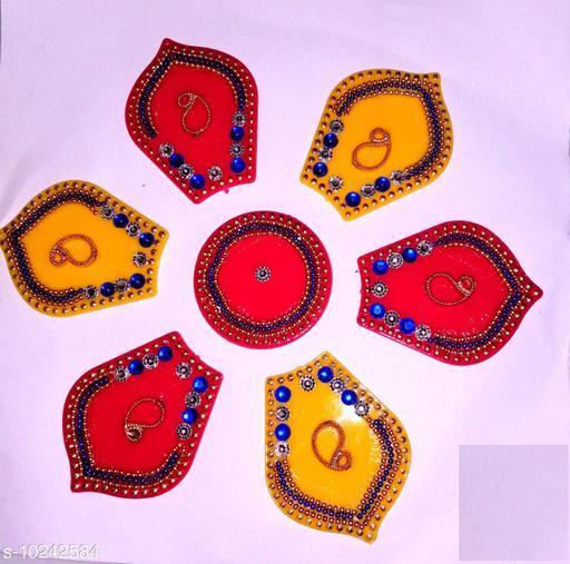 Rangoli & Festive Stickers COLOUR SMALL RANGOLI   *Material* Plastic  *Pack* Pack of 1  *Sizes Available* Free Size *    Catalog Name: Modern Rangoli Stickers CatalogID_1855683 C128-SC1317 Code: 981-10242584-