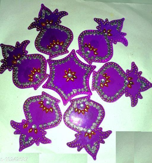 Rangoli & Festive Stickers MEDIUM RANGOLI   *Material* Plastic  *Pack* Pack of 1  *Sizes Available* Free Size *    Catalog Name: Modern Rangoli Stickers CatalogID_1855683 C128-SC1317 Code: 981-10242587-