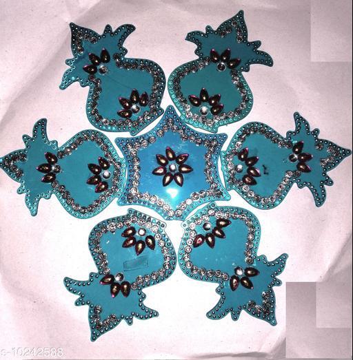 Rangoli & Festive Stickers MEDIUM RANGOLI   *Material* Plastic  *Pack* Pack of 1  *Sizes Available* Free Size *    Catalog Name: Modern Rangoli Stickers CatalogID_1855683 C128-SC1317 Code: 981-10242588-