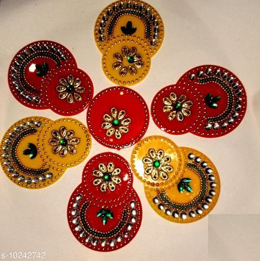 Rangoli & Festive Stickers COLOUR SMALL RANGOLI   *Material* Plastic  *Pack* Pack of 1  *Sizes Available* Free Size *    Catalog Name: Classy Rangoli Stickers CatalogID_1855710 C128-SC1317 Code: 981-10242742-