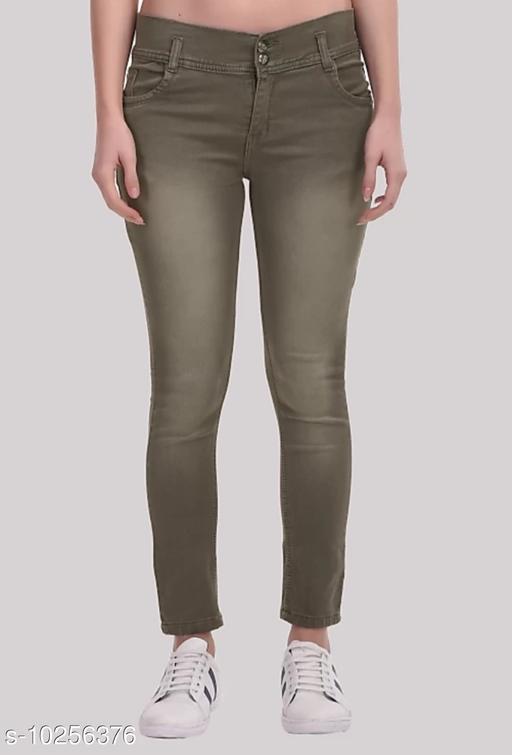 RAPO women's Coloured skinny fit jeans