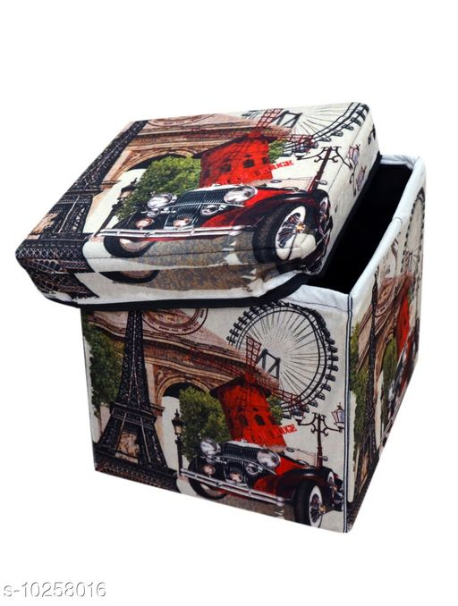TRENDY STORAGE BOX CUM FOLDABLE STOOL