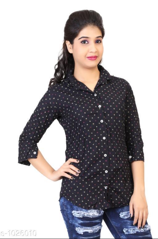 Fashion Cotton Printed Women's Shirt