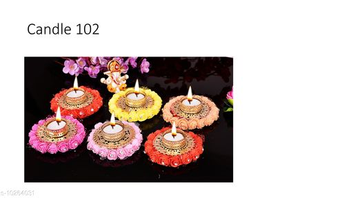 Festive Diyas & Candles Fancy Festive Diyas  *Pack* Multipack  *Sizes Available* Free Size *    Catalog Name: Latest Festive Diyas CatalogID_1860572 C128-SC1604 Code: 825-10264031-